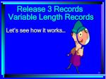 release 3 records30