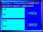 release 3 transactions consist of 2 records to report a claim event
