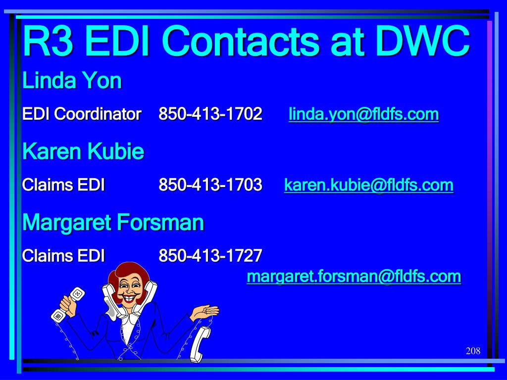 R3 EDI Contacts at DWC