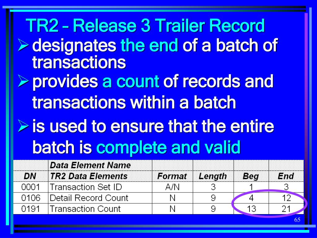 TR2 – Release 3 Trailer Record
