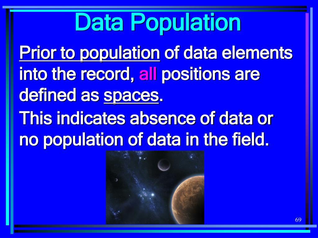Data Population