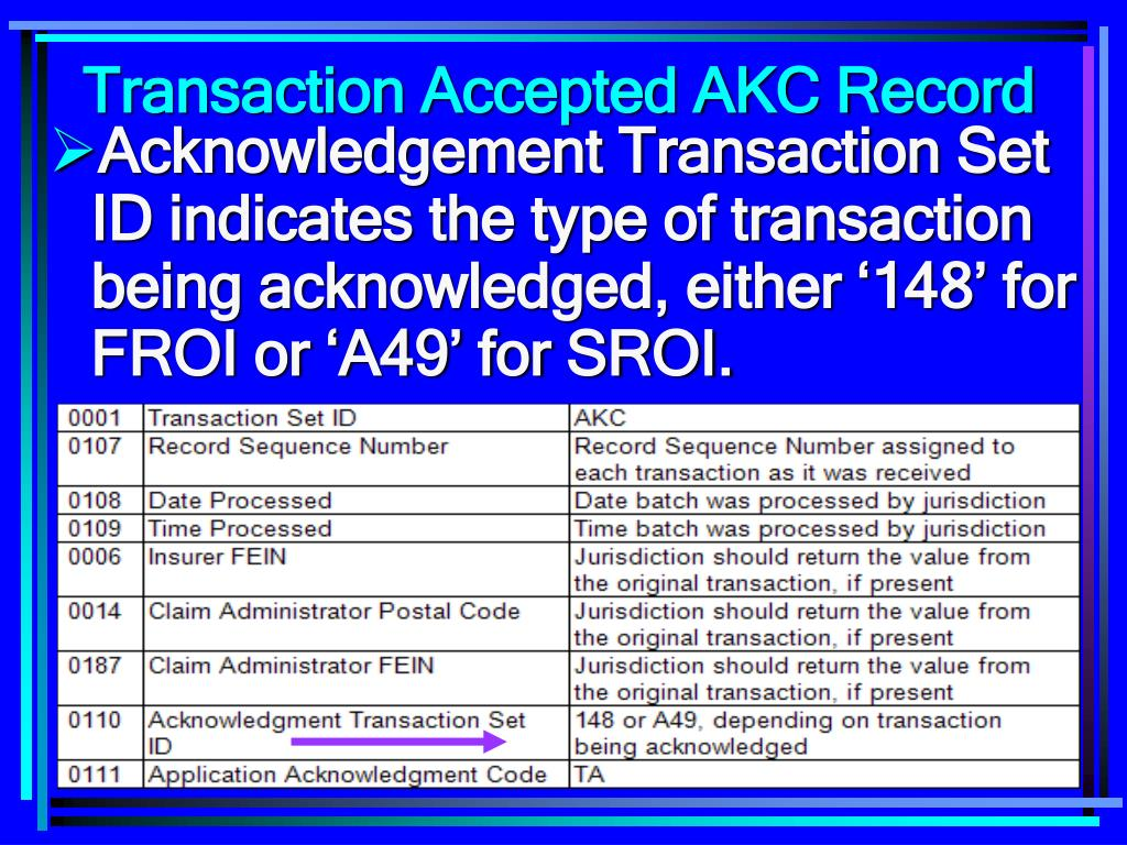 Transaction Accepted AKC Record