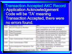 transaction accepted akc record158