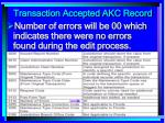 transaction accepted akc record159