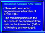 transaction accepted akc record160