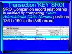 transaction key sroi