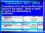 transaction key sroi46