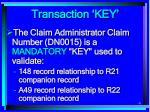 transaction key