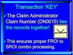 transaction key42