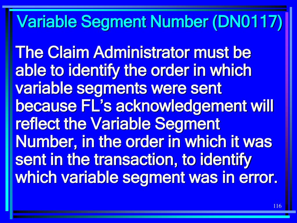 Variable Segment Number (DN0117)