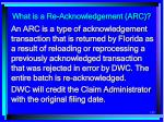 what is a re acknowledgement arc