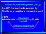 what is an acknowledgement akc