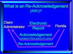 what is an re acknowledgement arc