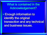 what is contained in the acknowledgement