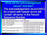 what will the acknowledgement record look like