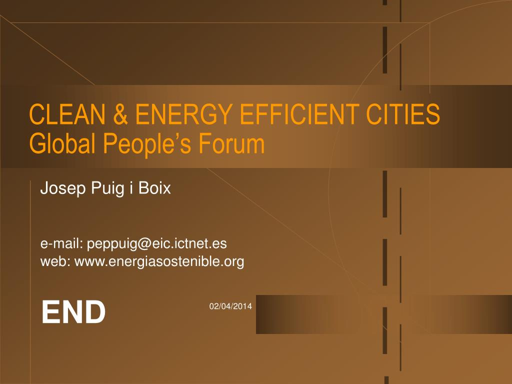 CLEAN & ENERGY EFFICIENT CITIES