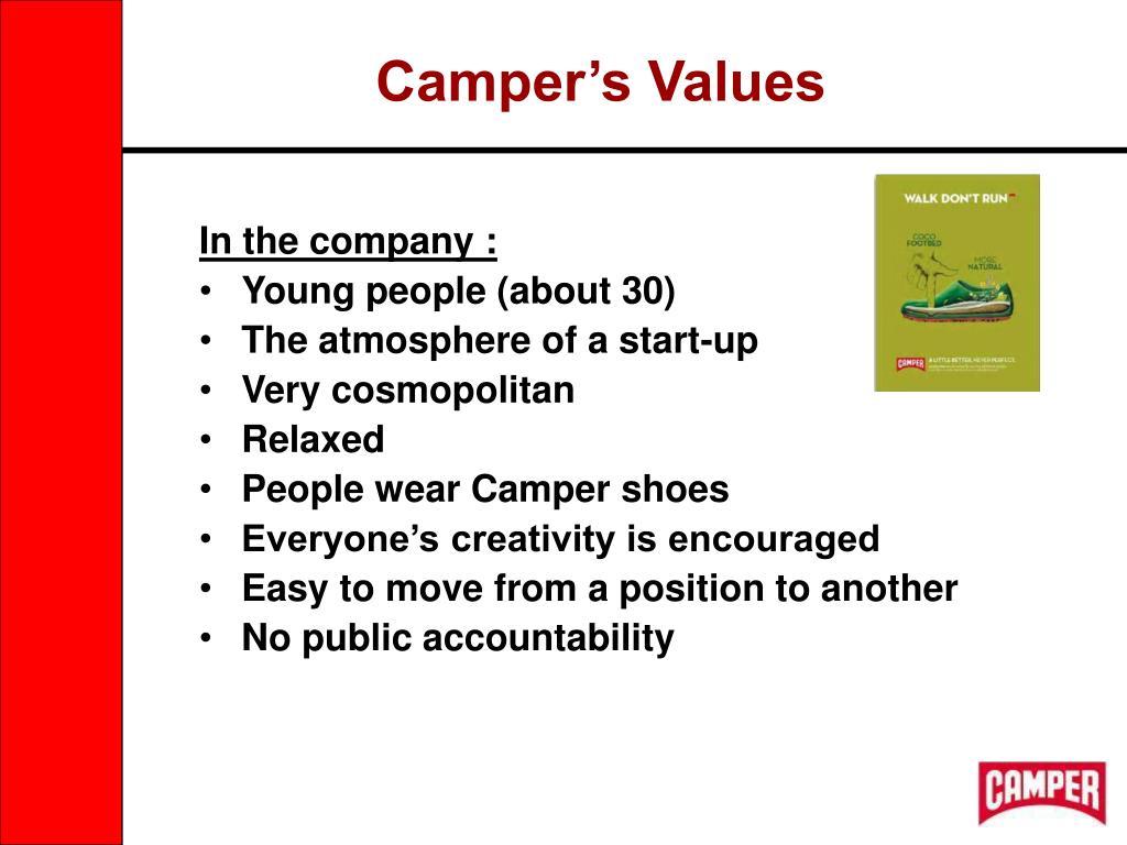 Camper's Values