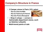 company s structure in france