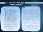 la risposta d ambrogio oratore teologo11