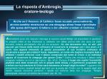 la risposta d ambrogio oratore teologo13