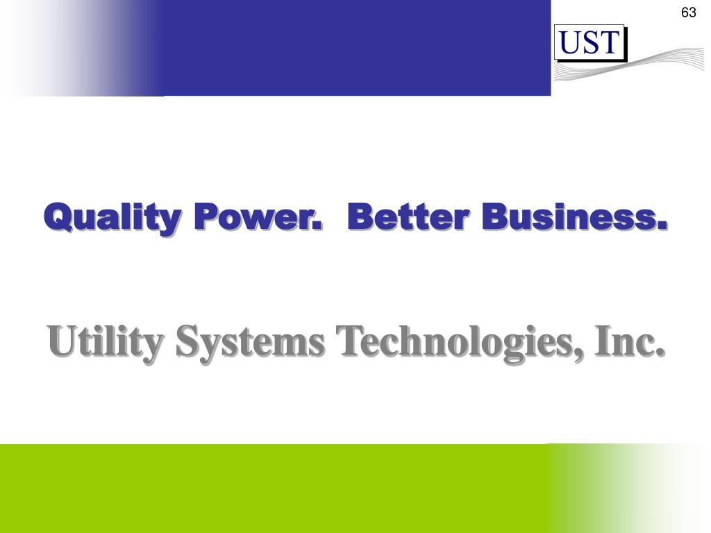 Quality Power.