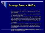 average several uhg s