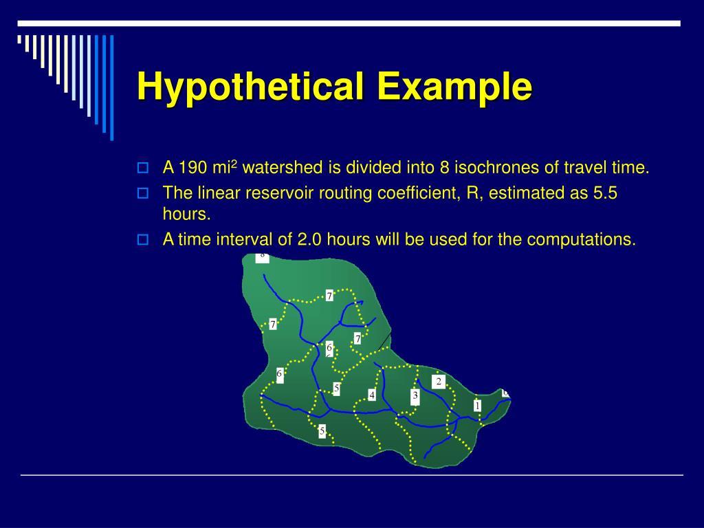 Hypothetical Example