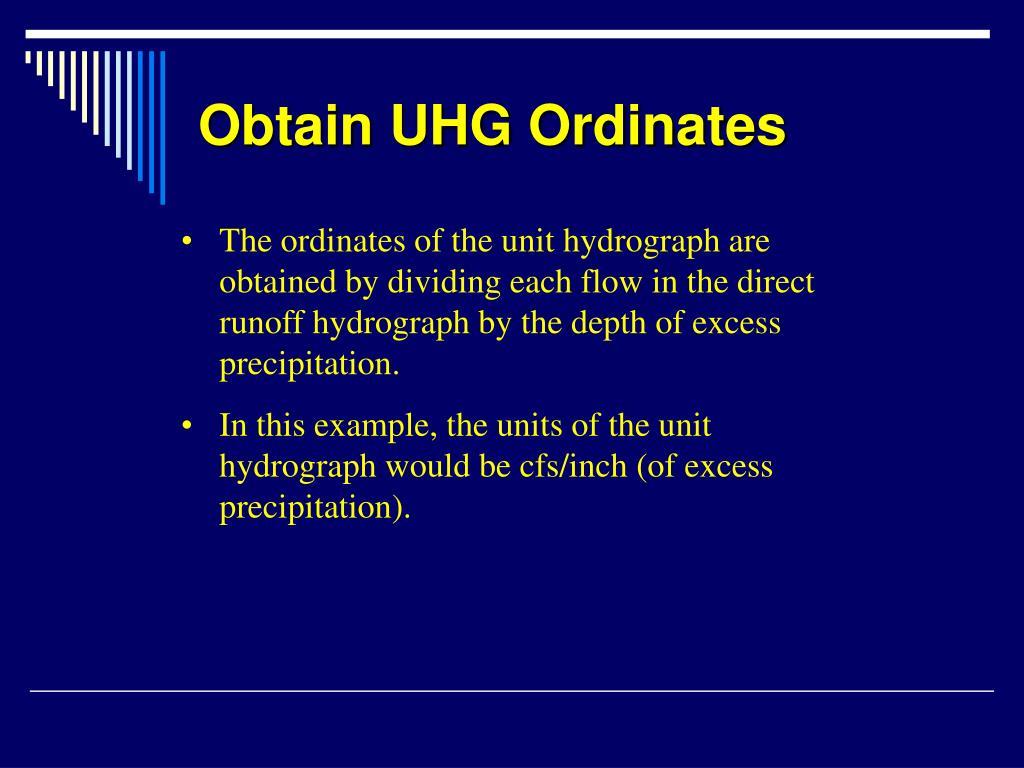 Obtain UHG Ordinates