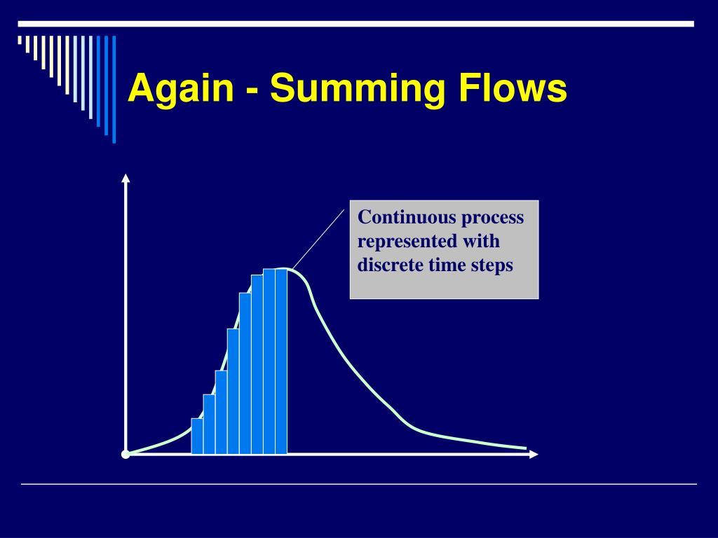 Again - Summing Flows