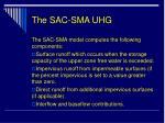 the sac sma uhg
