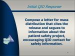 initial qio response