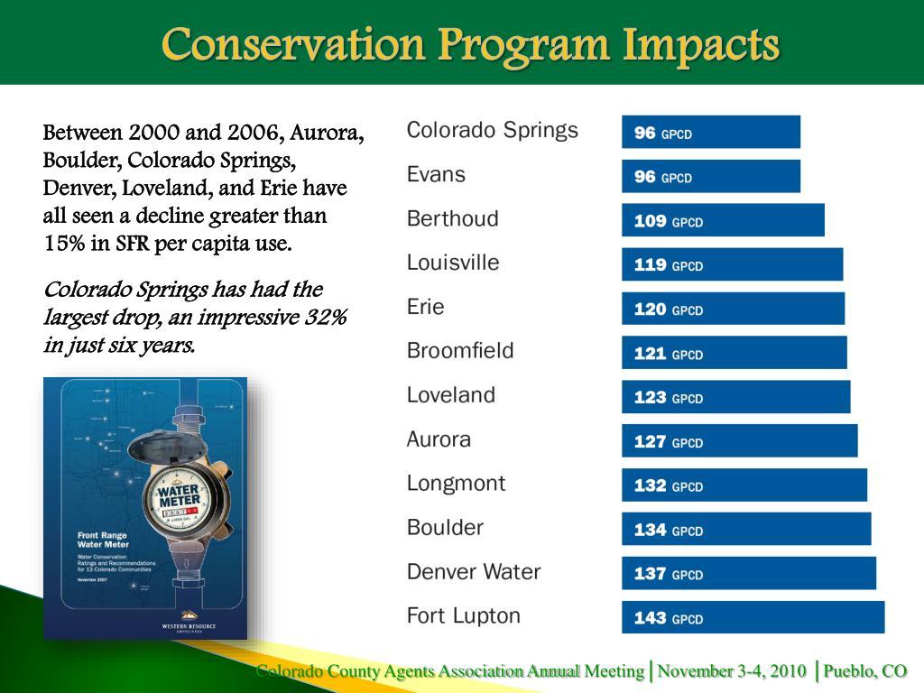 Conservation Program