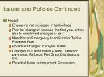 issues and policies continued20