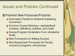 issues and policies continued22