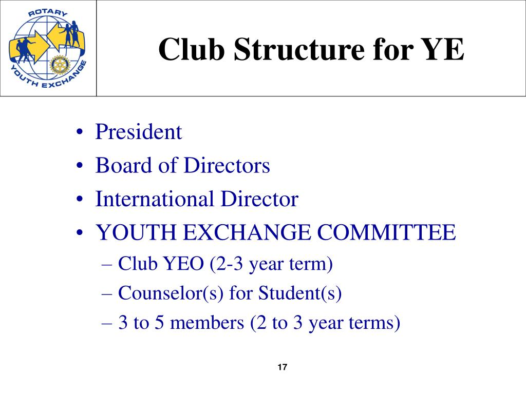 Club Structure for YE