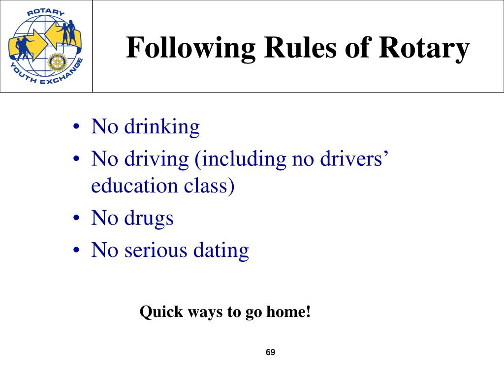 Following Rules of Rotary
