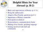 helpful hints for year abroad p h 2