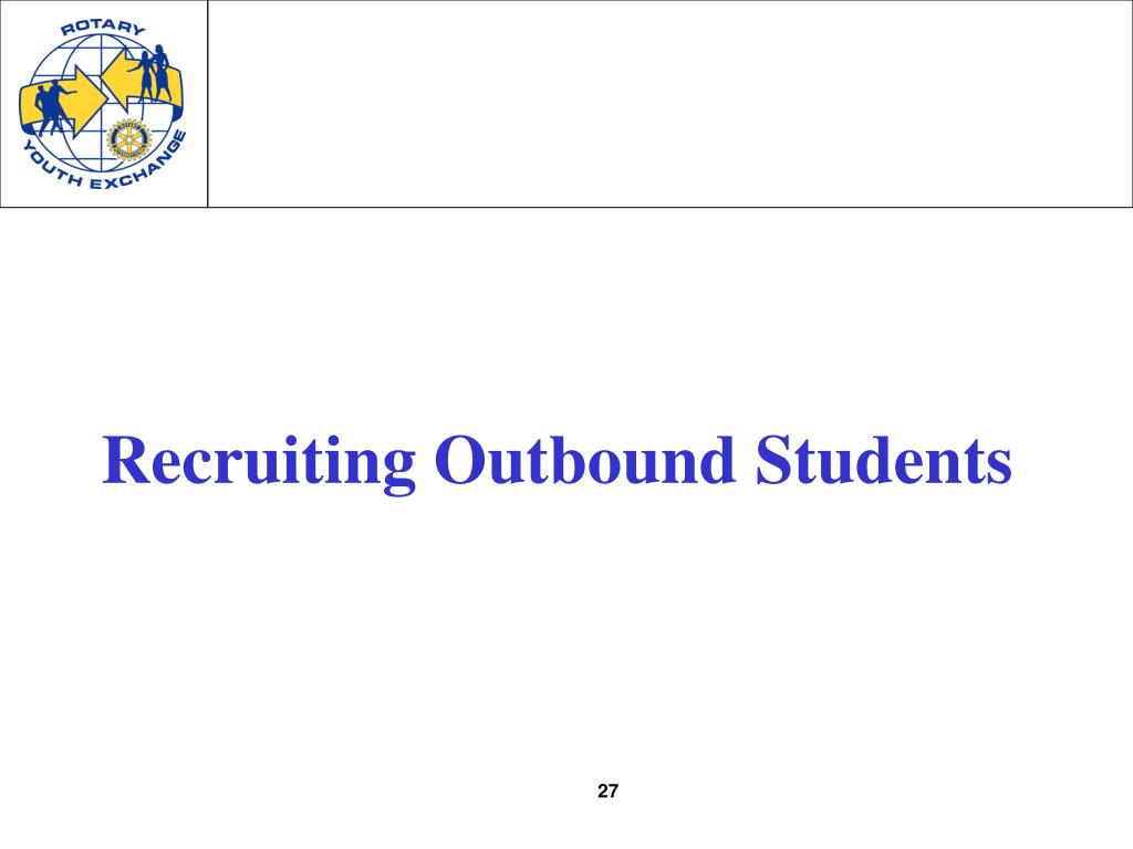 Recruiting Outbound Students