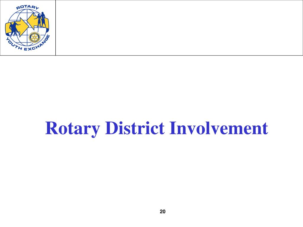 Rotary District Involvement
