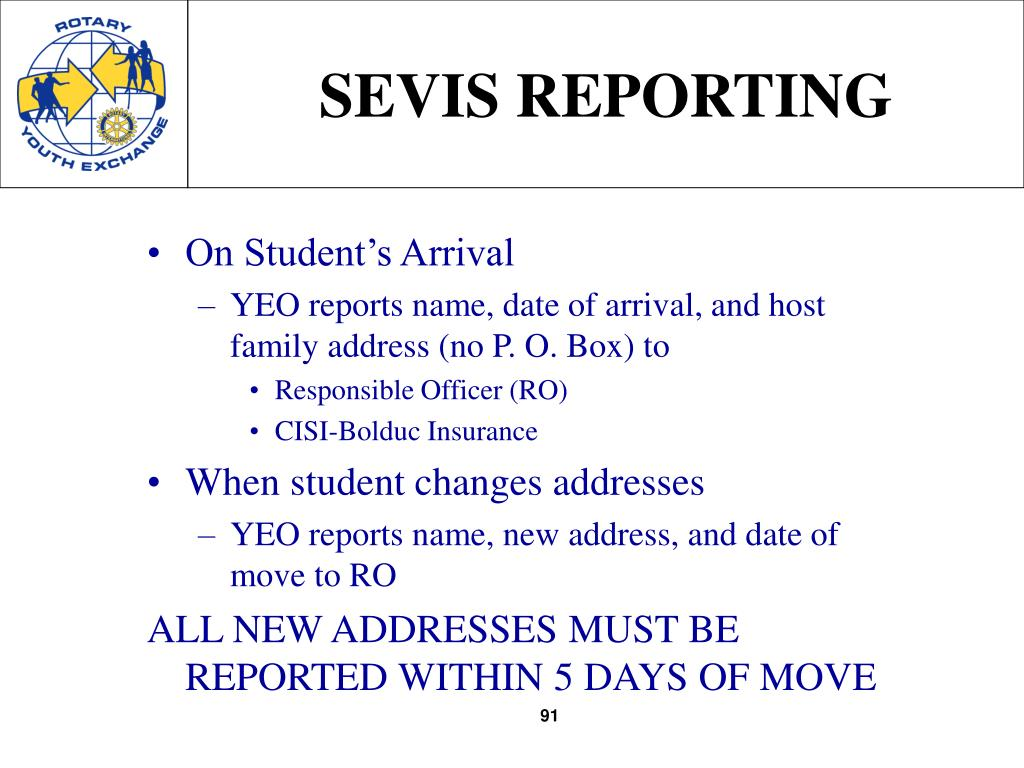 SEVIS REPORTING