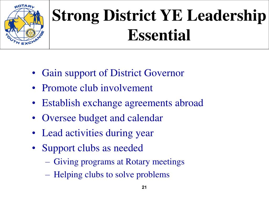 Strong District YE Leadership Essential
