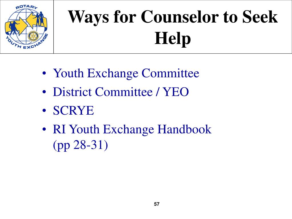 Ways for Counselor to Seek Help