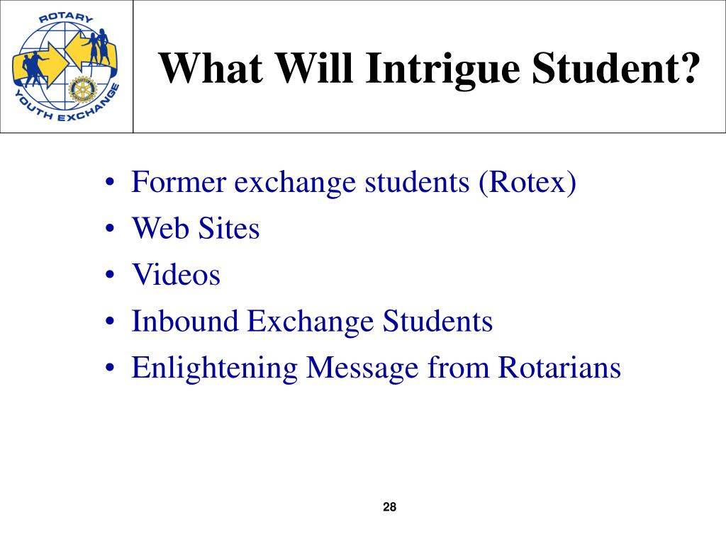 What Will Intrigue Student?