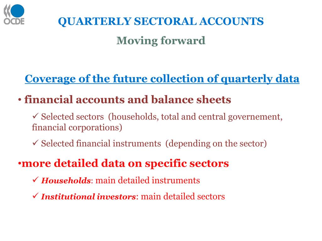 QUARTERLY SECTORAL ACCOUNTS
