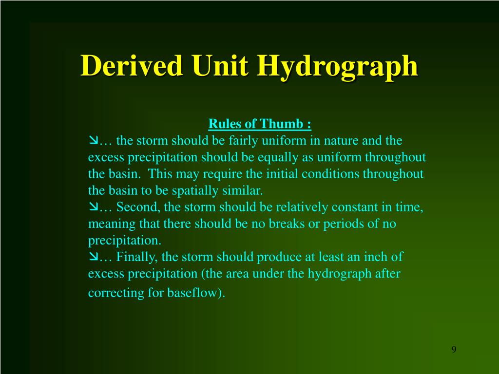 Derived Unit Hydrograph