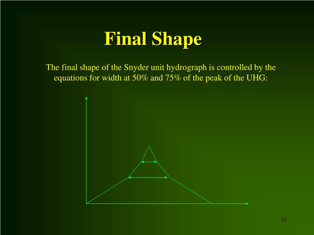 Final Shape