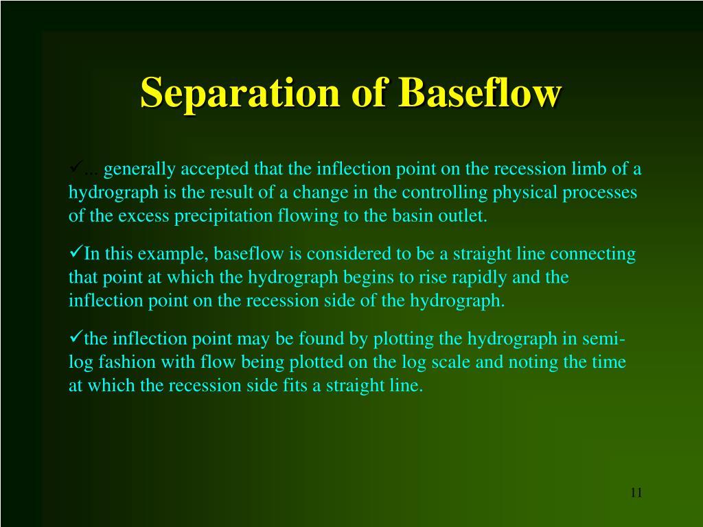 Separation of Baseflow