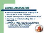 cross tab analysis