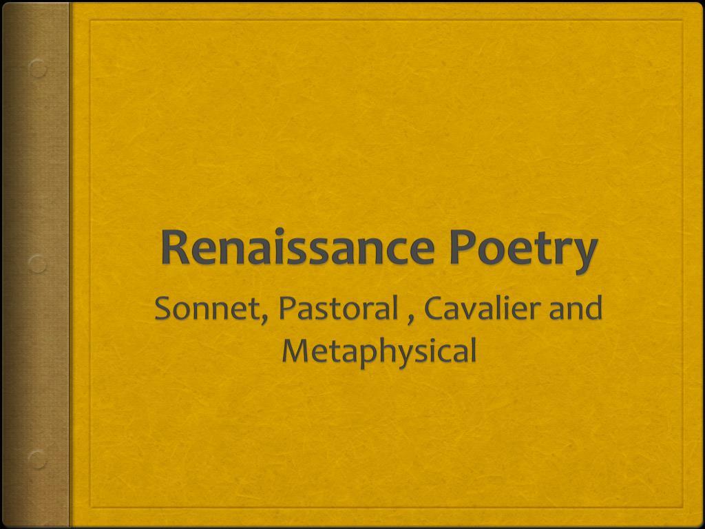 renaissance poetry l.