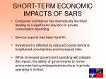 short term economic impacts of sars
